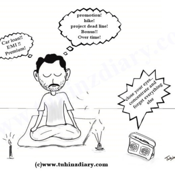 meditation cartoon_peace of mind